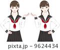 女性 生徒 女の子のイラスト 9624434