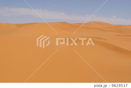 日中のサハラ砂漠 9629517