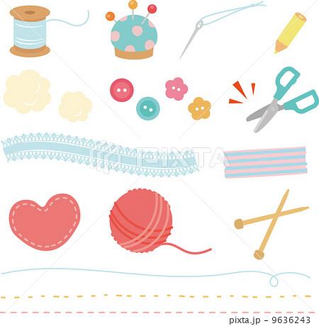 裁縫道具のイラスト素材 9636243 Pixta