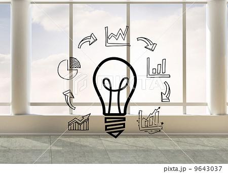Business graphic in bright roomのイラスト素材 [9643037] - PIXTA