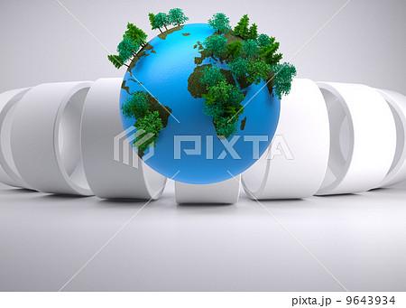 Globe on abstract backgroundのイラスト素材 [9643934] - PIXTA