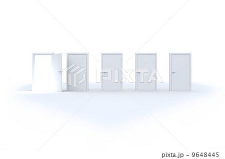 Door opening revealing bright lightのイラスト素材 [9648445] - PIXTA