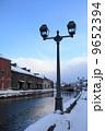 倉庫街 小樽運河 街灯の写真 9652394