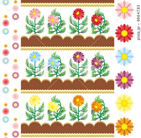 咲く花萎れる花イラストカットデザインイメージ 9664783