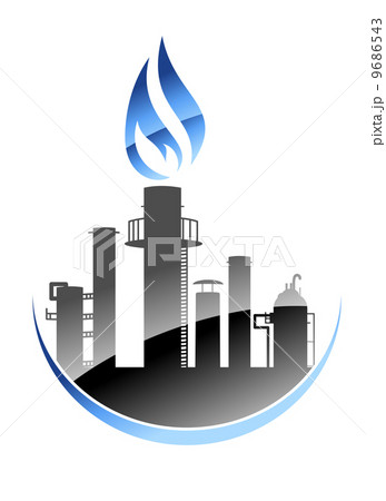 Oil refinery or industrial plant 9686543
