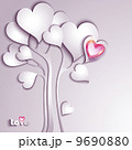 花 ハート ハートマークのイラスト 9690880