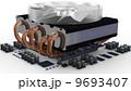 CPU fan on radiator 9693407