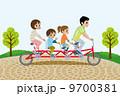 サイクリング ベクター 公園のイラスト 9700381