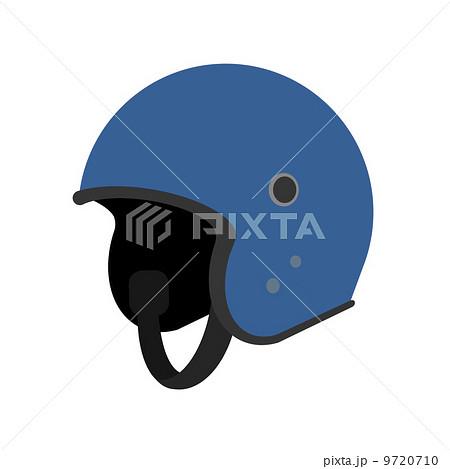 バイクのヘルメットのイラスト素材 9720710 Pixta