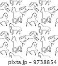 馬 アート デザインのイラスト 9738854