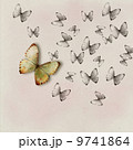 Textured background with butterflies 9741864