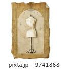 Dress form , vintage paper 9741868
