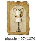 Dress form , vintage paper 9741870