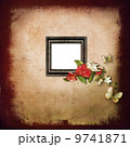 Photo album cover with a frame decorated with flowers 9741871