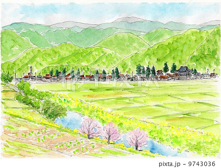 早春の風景のイラスト素材 9743036 Pixta