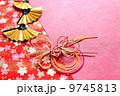 年賀状素材 扇 扇子の写真 9745813