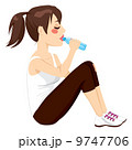 Brunette Woman Drinking 9747706