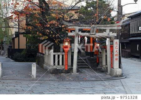 12月撮影 紅葉の祇園白川  京都の冬景色 9751328