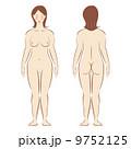 全裸 ヌード 女性のイラスト 9752125