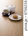 おはぎ 煎茶 緑茶の写真 9756258
