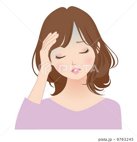 頭痛に悩む女性 9763245