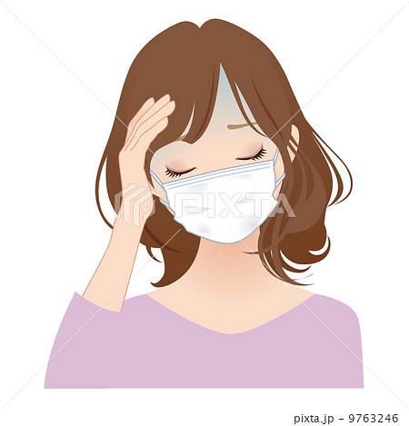 マスクをする女性 9763246
