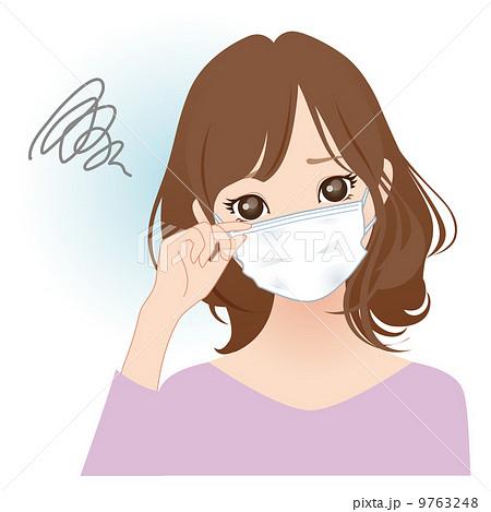 マスクをする女性 9763248