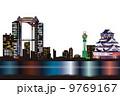 大阪夜景のイメージイラスト 9769167