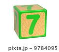 すうじ 7番目 数字のイラスト 9784095