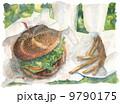 ハンバーガー_水彩 9790175
