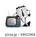 ボタン キャラクター 文字のイラスト 9802968