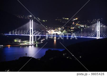稲佐山からの女神大橋 9805426