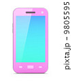 Beautiful pink smartphone on white background 9805595
