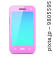 スマートフォン 携帯電話 ピンクのイラスト 9805595