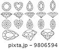 ダイヤモンド 華やか 色鮮やかのイラスト 9806594