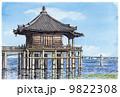 水彩画 浮御堂 9822308