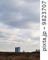 空 建造物 雲の写真 9823707