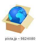 ダンボール 段ボール BOXのイラスト 9824080