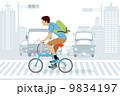 ベクター 男性 自転車のイラスト 9834197