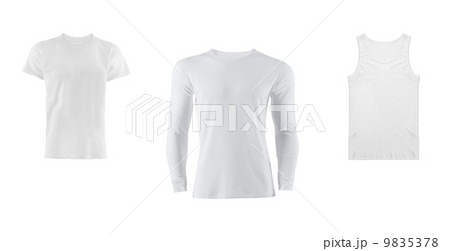 various t shirts on white backgroundの写真素材 [9835378] - PIXTA