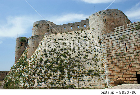Krak des Chevaliers, crusaders fortress, Syria 9850786