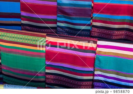 Fabrics found in a marketの写真素材 [9858870] - PIXTA
