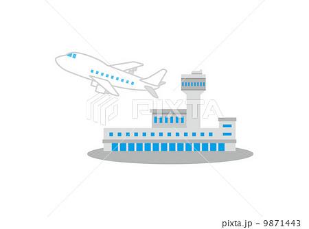 空港と飛行機のイラスト素材 9871443 Pixta