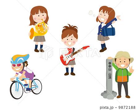 自転車の 自転車 素材 イラスト : イラスト素材: 吹奏楽/軽音楽 ...