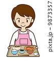 定食 女性 食事のイラスト 9873357