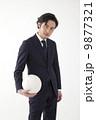 スーツでバレーボール 9877321