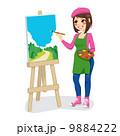 画家 絵描き 画伯のイラスト 9884222