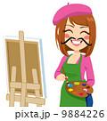 画伯 芸術家 アーティストのイラスト 9884226