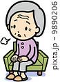 体調不良 ベクター 老人のイラスト 9890206