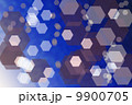 Abstract blue background with hexagons 9900705